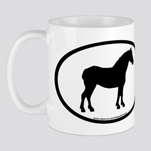 Draft Horse Oval Mug
