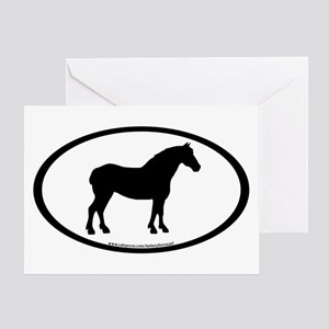 Draft Horse Oval Greeting Card