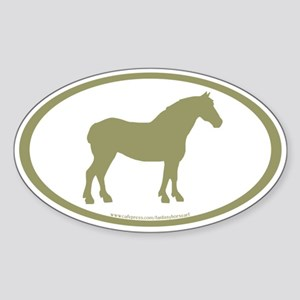 Draft Horse Oval (sage) Oval Sticker