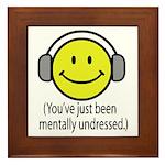 You've Just Been Mentally Und Framed Tile
