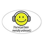 You've Just Been Mentally Und Oval Sticker (50 pk)