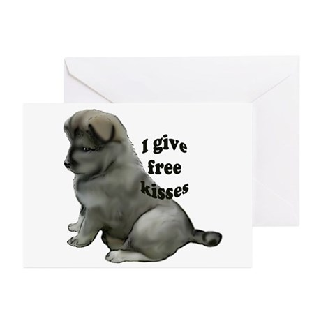 Eurasier puppy kisses Greeting Cards (Pk of 10)