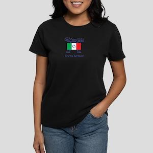 "Whooligan Italy ""Forza Azzurri"" Women's Dark T-Shi"
