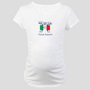 """Whooligan Italy """"Forza Azzurri"""" Maternity T-Shirt"""