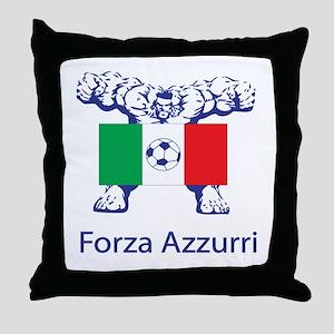 """Whooligan Italy """"Forza Azzurri"""" Throw Pillow"""