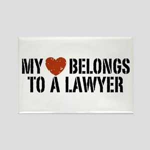 My Heart Belongs to a Lawyer Rectangle Magnet