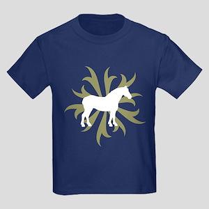 Draft Horse Sage Tribal Kids Dark T-Shirt