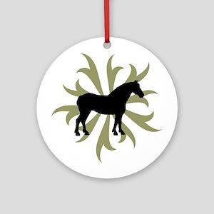 Draft Horse Sage Tribal Ornament (Round)