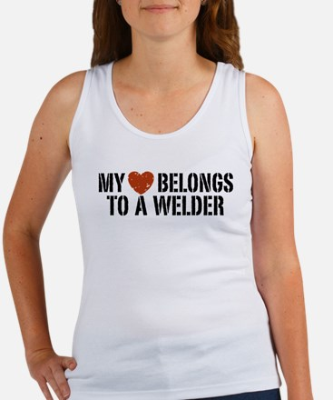 My Heart Belongs to a Welder Women's Tank Top