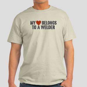 My Heart Belongs to a Welder Light T-Shirt