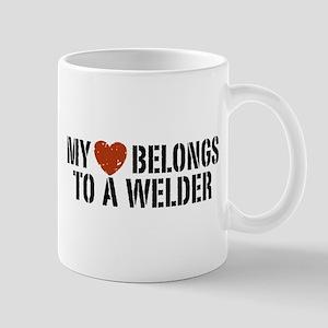 My Heart Belongs to a Welder Mug