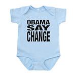 Obama Say Change Infant Bodysuit