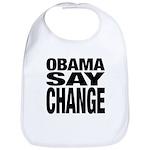 Obama Say Change Bib