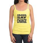 Obama Say Change Jr. Spaghetti Tank