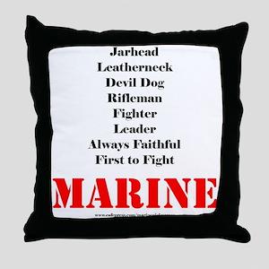 MARINE Throw Pillow