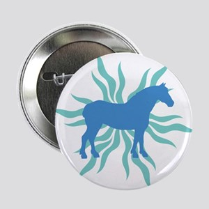 "Blue Star Draft Horse 2.25"" Button"