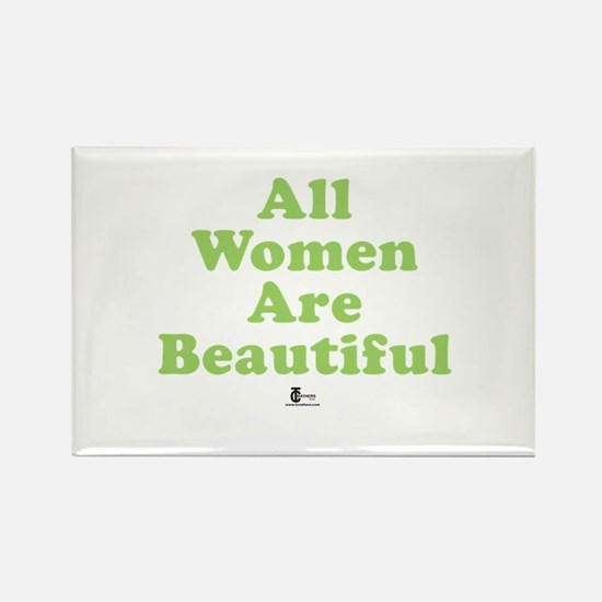 All Women Are Beautiful Rectangle Magnet