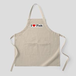 I Love Fish BBQ Apron