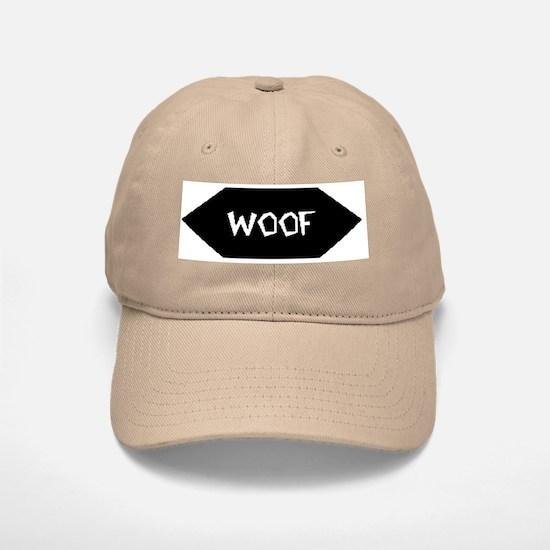 WOOF /BLACK SIGN Baseball Baseball Cap