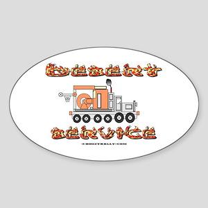 Desert Service Oval Sticker