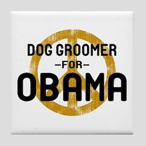 Dog Groomer for Obama Tile Coaster