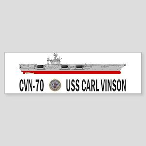 USS Vinson CVN-70 Bumper Sticker