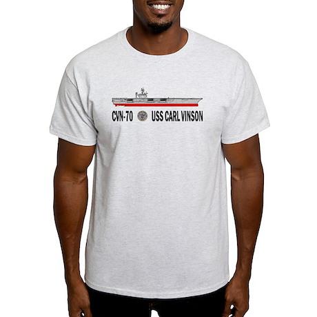 USS Vinson CVN-70 Light T-Shirt