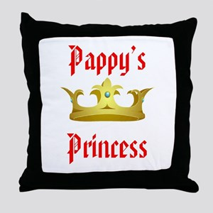 Pappy's Princess in Red Throw Pillow