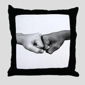 Fist Bump Throw Pillow