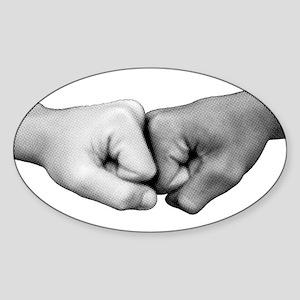 Fist Bump Oval Sticker