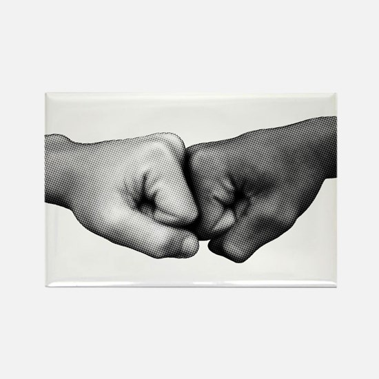 Fist Bump Rectangle Magnet (100 pack)