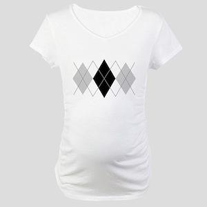 Argyle Grey Triple Maternity T-Shirt