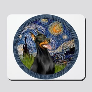 Starry Night Doberman (#1) Mousepad