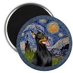 Starry Night Doberman (#1) Magnet