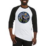 Starry Night Doberman (#1) Baseball Jersey