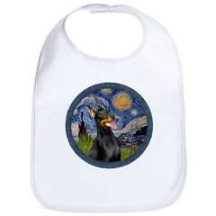 Starry Night Doberman (#1) Bib