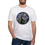 Starry Night Doberman (#1) Fitted T-Shirt