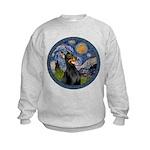 Starry Night Doberman (#1) Kids Sweatshirt