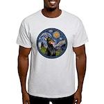 Starry Night Doberman (#1) Light T-Shirt
