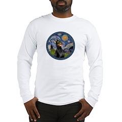 Starry Night Doberman (#1) Long Sleeve T-Shirt