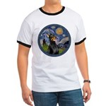 Starry Night Doberman (#1) Ringer T