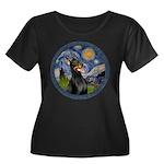 Starry Night Doberman (#1) Women's Plus Size Scoop