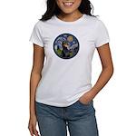 Starry Night Doberman (#1) Women's T-Shirt