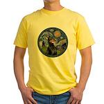 Starry Night Doberman (#1) Yellow T-Shirt