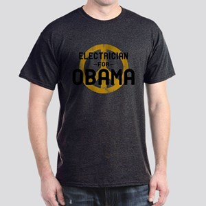 Electrician for Obama Dark T-Shirt