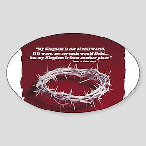 Kingdom - Crown of Thorns Oval Sticker