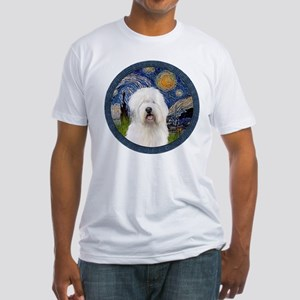 Starry Old English (#3) Fitted T-Shirt