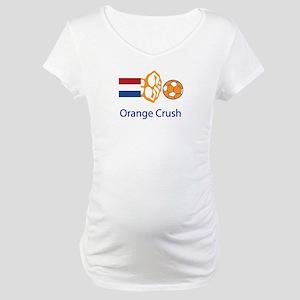 "Whooligan Netherlands ""Orange Crush"" Maternity T-S"