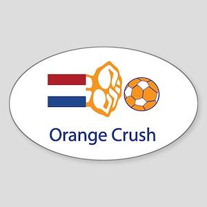 "Whooligan Netherlands ""Orange Crush"" Sticker (Oval"