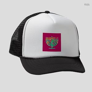 Menorah Hanukkah Kibbitzing 4Sara Kids Trucker hat